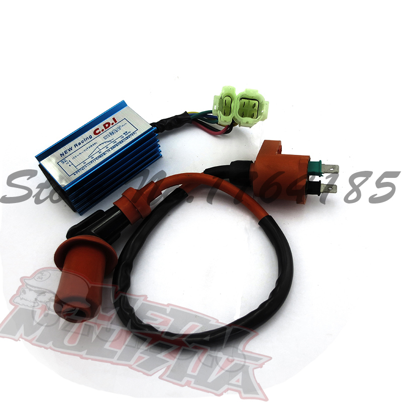 Unlimited AC Fired CDI(6pin)+ Ignition Coil Fit GY6 50CC 125cc 150cc 200cc Motorcycle Scooter ATV Quad Buggy Free Shipping(China (Mainland))