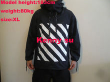 2014 fall new US hip hop kanye west  OFF WHITE stripe 13 striped windbreaker sun proof light weight  jacket(China (Mainland))