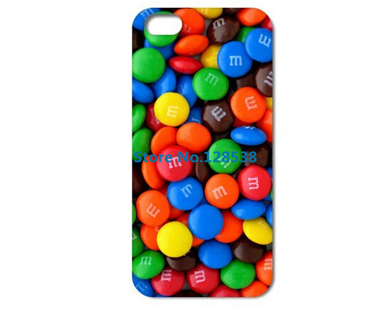 Phone case Hotsell style Hard PC cover Back cover case for Chocolate M&M iphone 5 5s 5G HOT Ultrathin New Style cell phone case(China (Mainland))