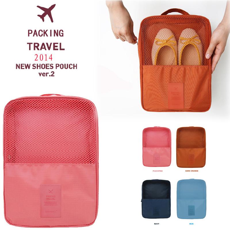 New Portable zipper plastic Shoes and bags Storage Box sport ski golf cloth shoe bag pouch men women ladies travel accessories(China (Mainland))