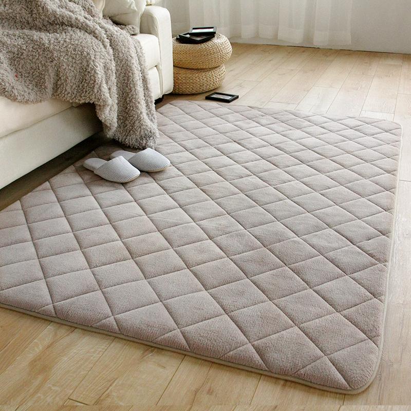Ultra-thick coral velvet fleece carpet sofa round bedroom/living room 80*120 floor mats slip measurement rugs home - Praise A hundred Million store
