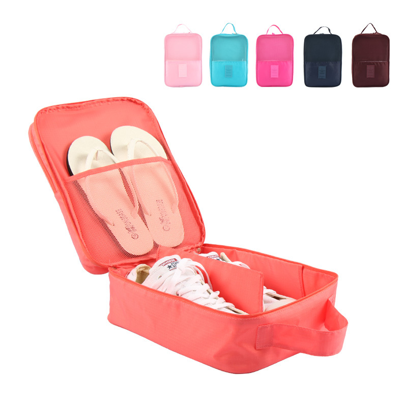 Portable Waterproof Shoes Dust Bag Organizer Storage Pouch Pocket Packing Cubes Handle Nylon Zipper Bag for Travel(China (Mainland))