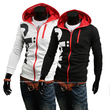 Hoodies Rushed New Hoodie Tracksuits Male 2014 Spring Outerwear Fashion Personality with A Hood Letter Print Sweatshirt Coat(China (Mainland))