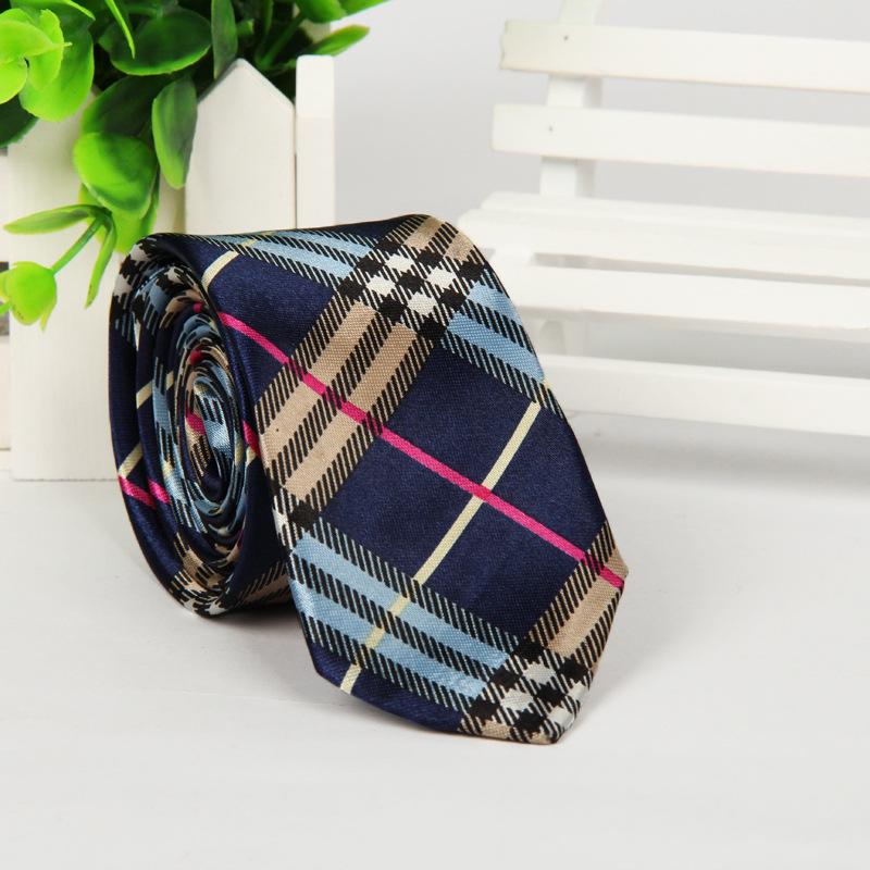 20 patterns Ties for men Korean 5cm Slim Neck ties Polyester Silk Striped Dot Skull printed