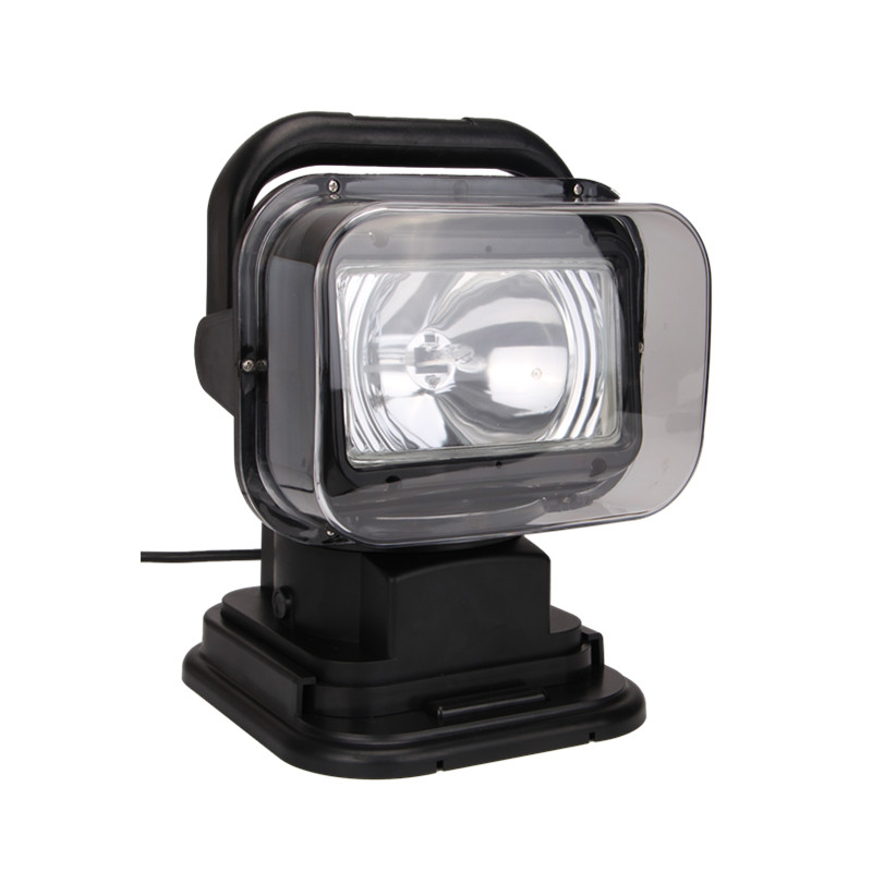 12V 7'' 55W  hid remote controller spotlight hid searchlight wire less search light for car  boat marine 4x4 off road use  24V
