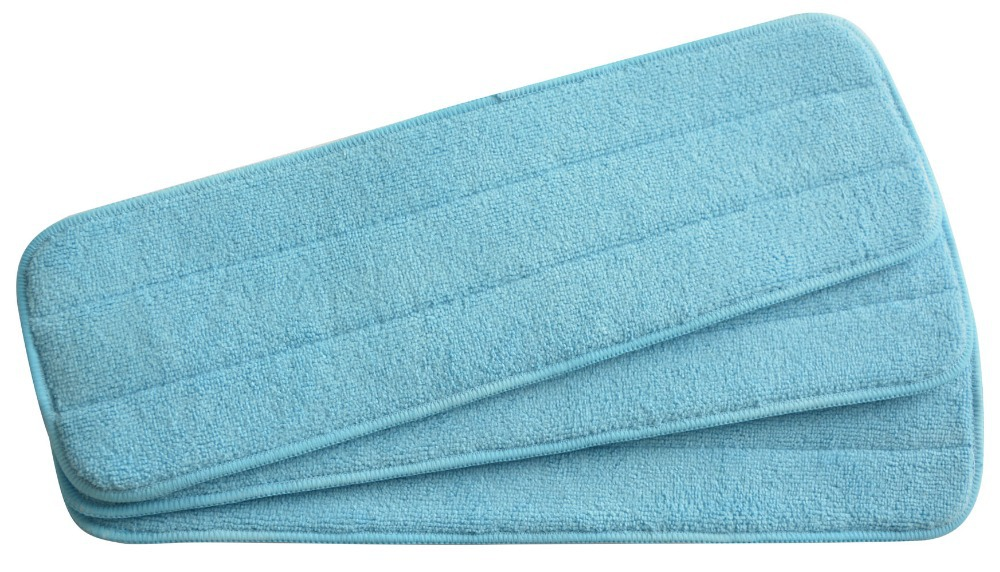 Sinland 3-pack Microfiber Mop Pads 13cmx42cm Refill Replacement Reveal Mop Heads Household Cleaning fit Flat mop(China (Mainland))