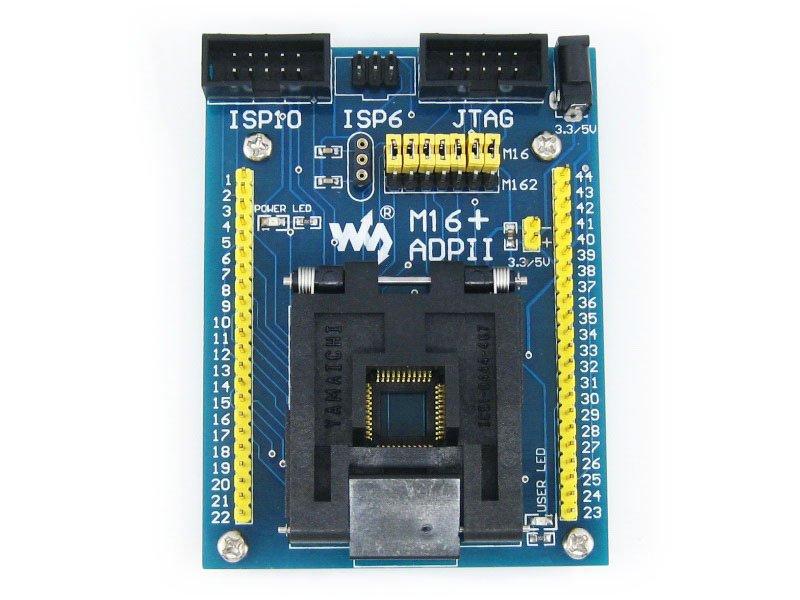 M16+ ADPII ATmega16 ATmega32 ATmega162 mega16 mega162 TQFP44 AVR Programming Adapter Test Socket + Freeshipping(China (Mainland))