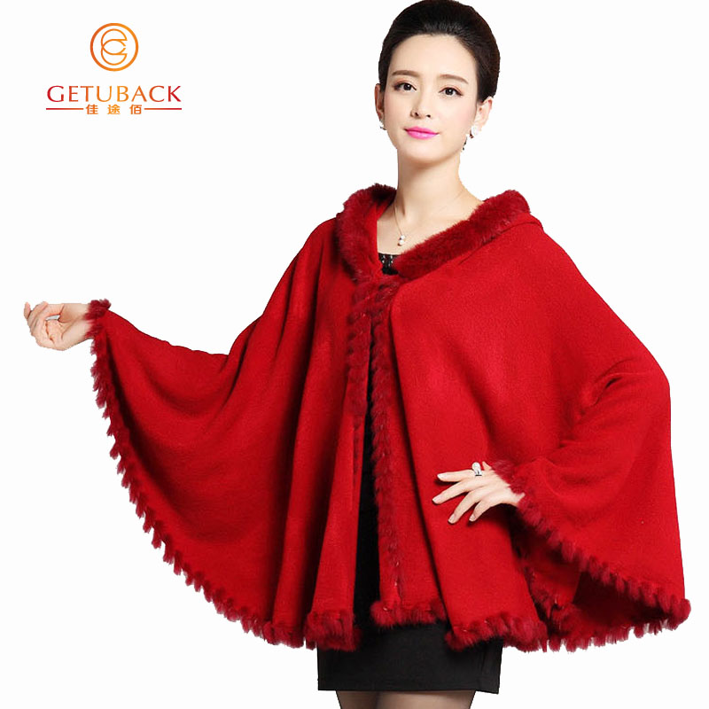 hooded poncho sweater 2015 womens fall fashion cape Batwing Sleeve Warm Fashion coat KB871
