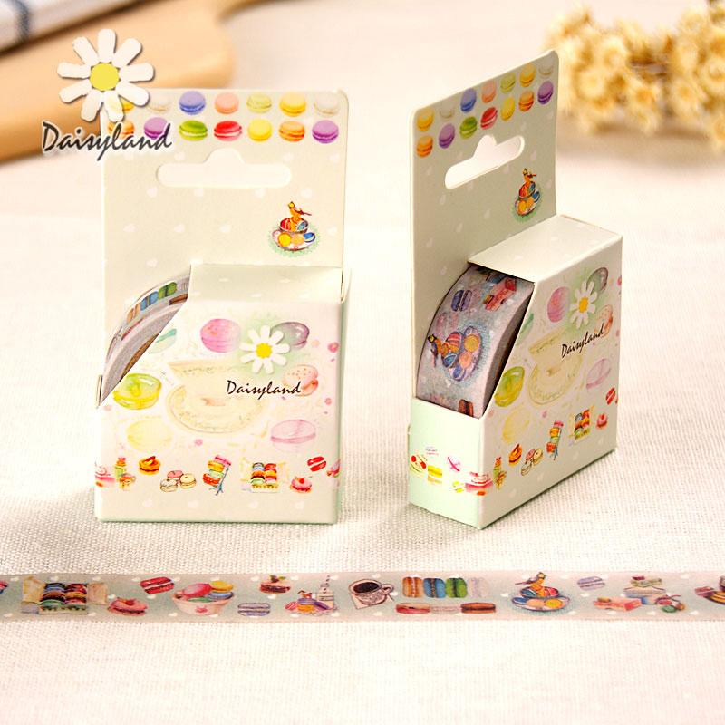 1 x 5M sweet Marcaroon washi tape DIY decorative scrapbooking masking tape adhesive label tape stationery<br><br>Aliexpress