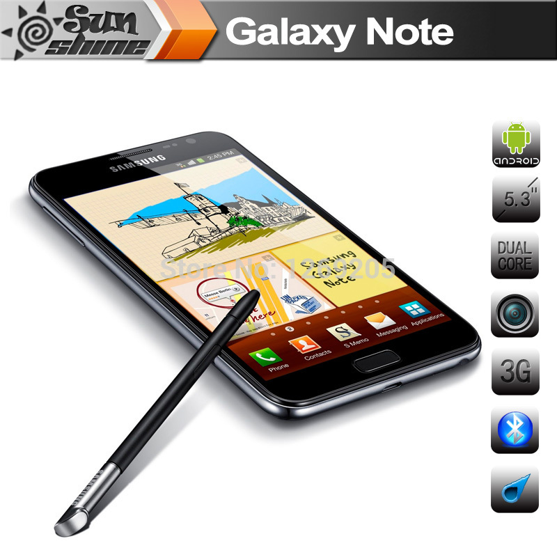 "Original Samsung Galaxy Note i9220 N7000 Mobile Phone 5.3"" Dual Core Smartphone 8MP GPS WCDMA Refurbished Phone Cell Phones(China (Mainland))"