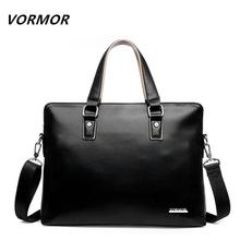 VORMOR 2017 Men Casual Briefcase Bag PU Leather Shoulder Messenger Bags Computer Laptop Handbag(China (Mainland))