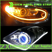 Buy 2X 85 CM White+Amber LED Switchback Strip Angel Eye eyes Halo Ring DRL Light Headlight turn signal Silicone tube 335 Daytime for $31.30 in AliExpress store