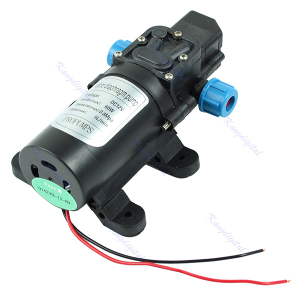 12V Water Pump DC 5L/min 60W Micro Car Diaphragm High Automatic Pressure Switch(China (Mainland))