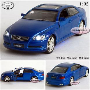 New 1:32 Toyota Reiz Alloy Diecast Model Car With Sound&Light Blue B201a(China (Mainland))