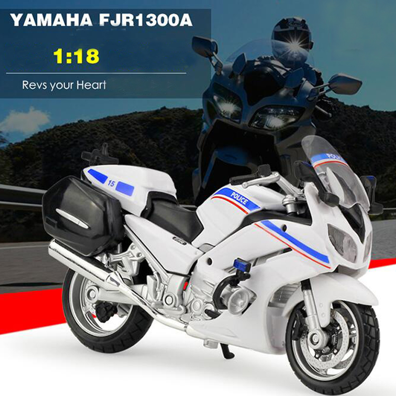 New Arrival 1/18 Motorcycle Diecasts Model Yamaha FJR 1300A Police Racing White/Black/Blue Collections for Gifts and Decoration(China (Mainland))