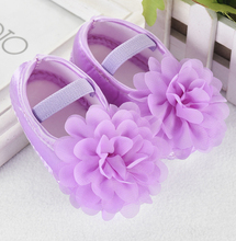 2 pairs lot 2017 newborn baby satin princess shoes first walkers girls pink purple flower infant chiffon bowtie prewalkers FE212(China (Mainland))