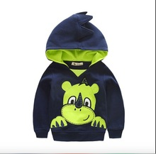 boys hoodie cute animals new arrivals 2015  sweatshirt boys pullover children clothing autumn winter (China (Mainland))