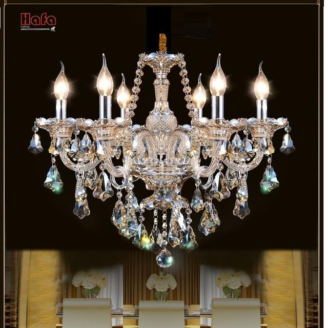 Бесплатная Доставка Роскошные Современные Хрустальные Люстры для гостиной спальня лампа современная люстра Кристалл освещение Топ K9 Лампы