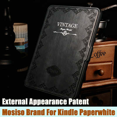 Retro Cover For Amazon Kindle Paperwhite Case 6'' Ereader Slim Leather Smart Case for Kindle Paperwhite Cover Mosiso Brand New(China (Mainland))