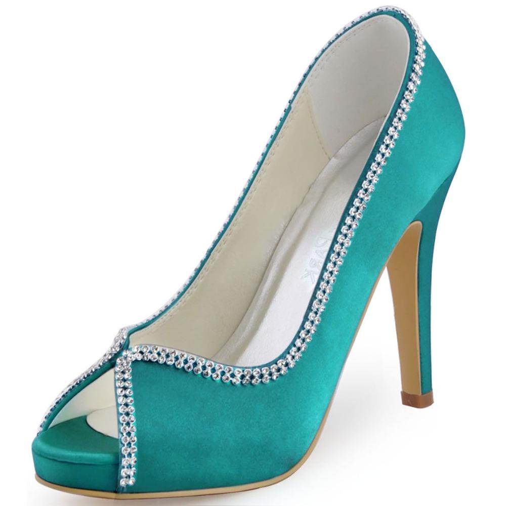 Sparkly Chunky Platform Heels