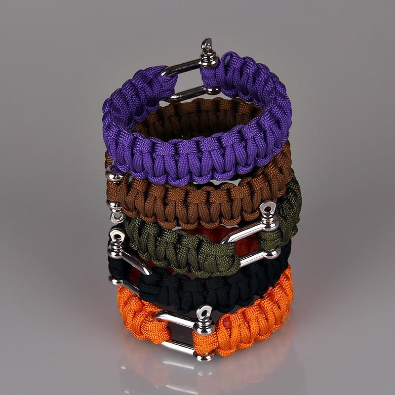 Посеребренные сейфом военного выживания браслет аварийного спорт отдых веревка браслеты открытый ювелирные изделия для женщин браслет выживания браслет для выживания сбраслет мужской B0234