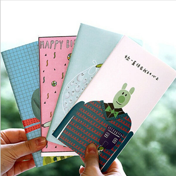 24 pcs / lot New Sweet Japan cute MR.Cartoon series paper notebook/Sketch book/journal Diary/Wholesale No.0250<br><br>Aliexpress