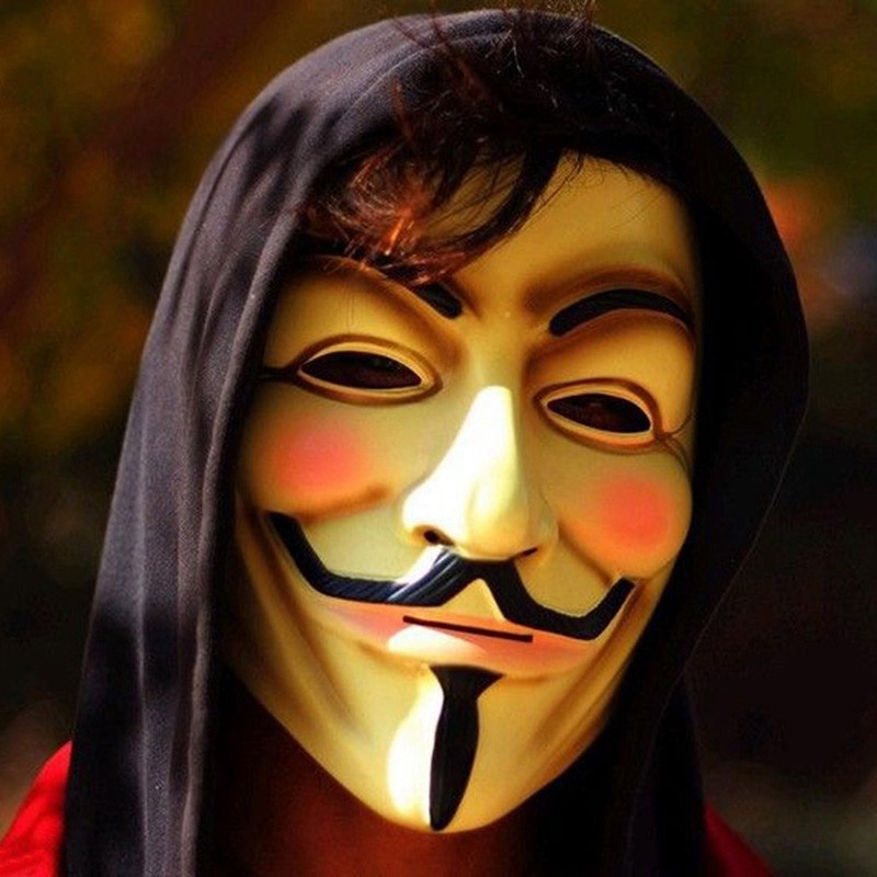 Hot Sale V for Vendetta Mask Guy Fawkes Anonymous Halloween Masks fancy dress costume superhero party masks YW3A-90