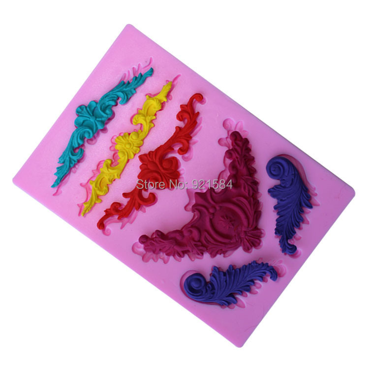 mould lace fondant mat silicone cake mold,stampi silicone moule cake silikon 3D silicone cake stencil cake,kitchen accessories(China (Mainland))