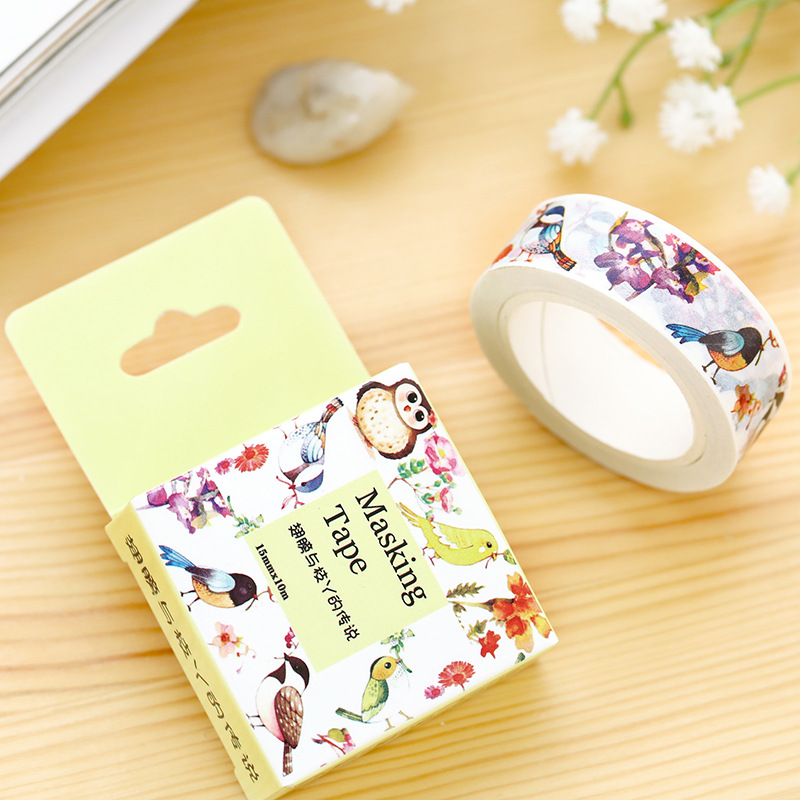 20 pcs/lot  DIY Paper washi tape Cartoon Wings and branches decorative Adhesive Tape/masking tape Stickers Size 15mm*10m<br><br>Aliexpress