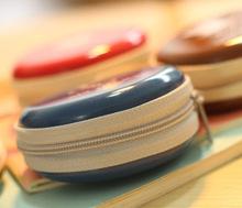 2015 New Fashion Creative Round Coin Purse Iron Big Beard Mini Handbag Key Coin Bag Wallet