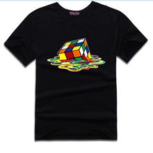 Hot sale Rubik Cube Tshirt Hot Sitcoms The Big Bang Theory 2015 Summer New Mens T shirt Stylish Design 50503020A(China (Mainland))