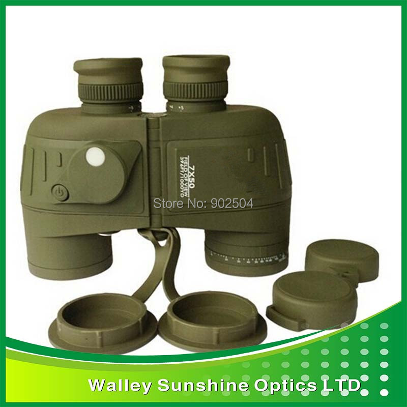 High Quality Waterproof 7X50 Optical Binoculars Nautical Telescope Outdoor Sporting Camping Hunting with rangefinder and compass<br><br>Aliexpress