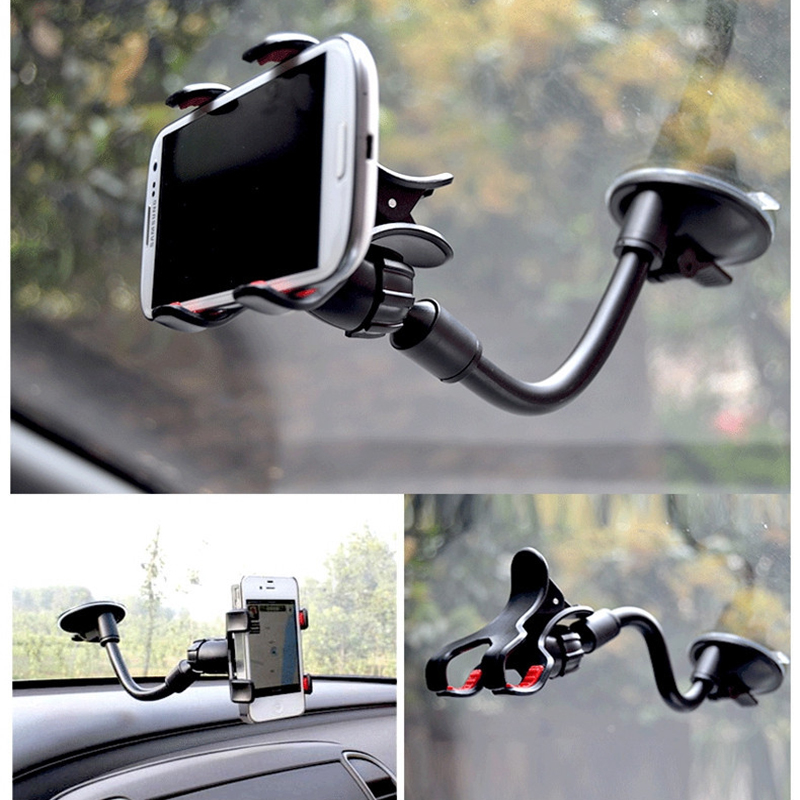 Suck Holder Sticky Car Holder For Iphone 6 5s 4 Glass Stand Support Rotatable Bracket For Samsung Mobile Phone Car Holder(China (Mainland))