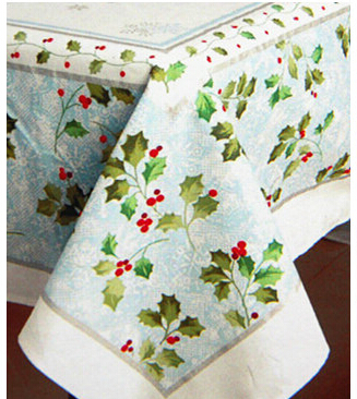 Walmart Mistletoe Damask Tablecloth Christmas decoration rectangular cotton cloth tablecloths many specifications(China (Mainland))