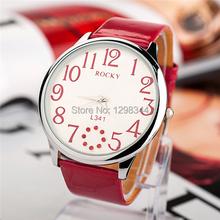 Free shipping  big round diamante quartz women dress watches