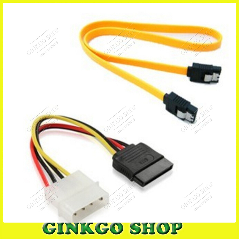 50pcs SATA Data Serial Port Hard Disk Cable with Card Buckle + 50pcs 4P to ide serial Connection Cable Free Shipping(China (Mainland))