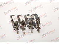 Pack of 4pcs-2.25'' T BOLT CLAMPS Turbo Pipe Hose Coupler Stainless Steel  60-68mm