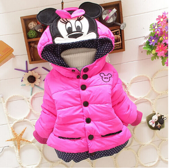 2015 Baby outerwear cotton winter hooded coats Kid Winter jacket children winter clothing Girls Down & Parkas(China (Mainland))