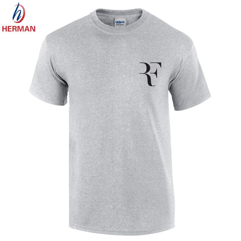 2016 Fashion Federer RF T shirt Men Roger Federer Tennis T-shirt Sport Brand Cotton Short sleeve Clothing tops tees,GT166(China (Mainland))