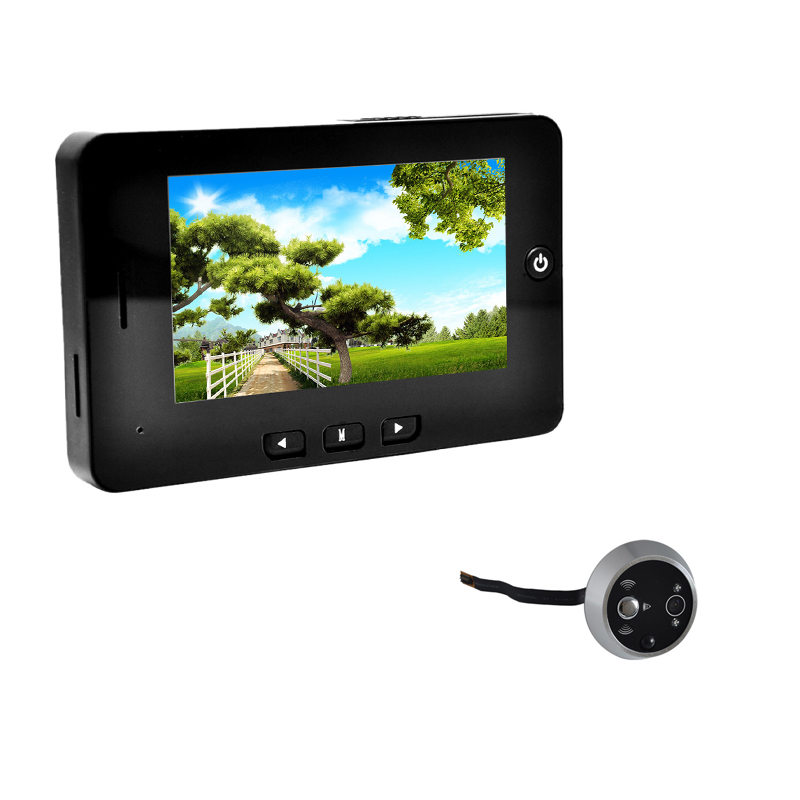 "4.3"" TFT LCD Video Door Phone Smart Digital Peephole Viewer Visual Doorbell Camera 1.3 Megapixel Monitoring Motion Detection(China (Mainland))"