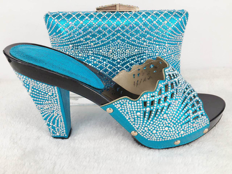 New Fashion Italian Shoes with Matching bags For Party, High Quality african Shoes And Bags Set for Wedding shoe and bag Hlu1-29