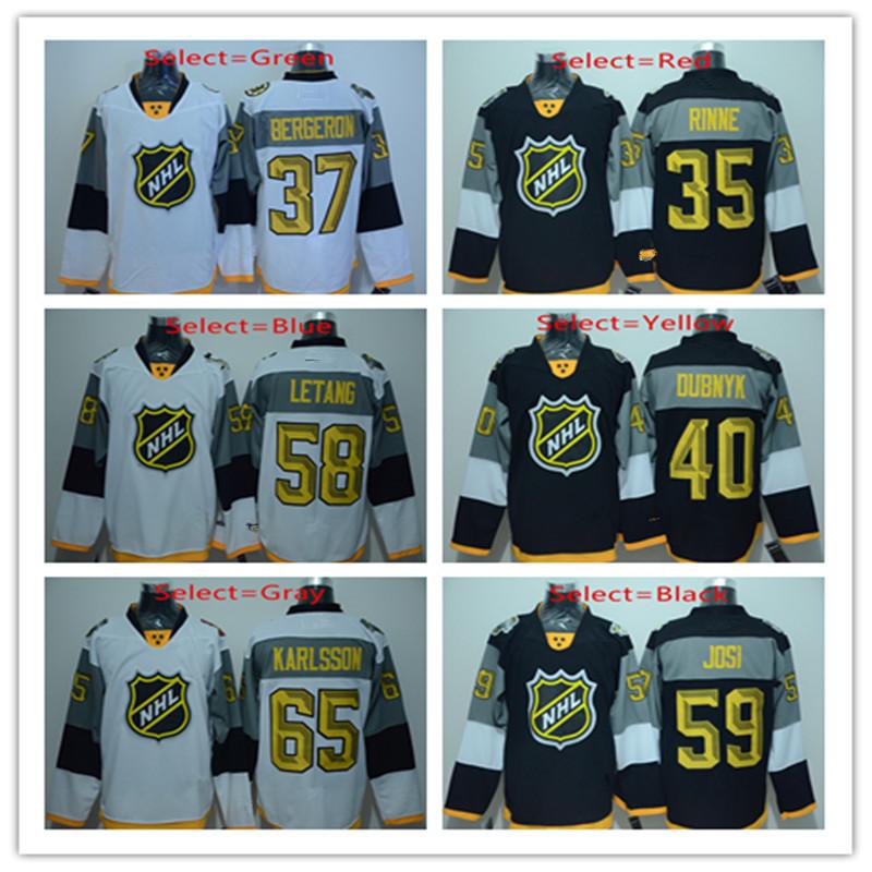 2016 Mens 35 Pekka Rinne 37 Patrice Bergeron 40 Devan Dubnyk 58 Kris Letang Black Gold White Home Throwback Hockey Jerseys(China (Mainland))
