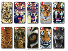 wholesale! new Tiger Roar Cross Quote case Silicon TPU soft back cover for iphone 4 4G 4S 10PCS/lot free shipping