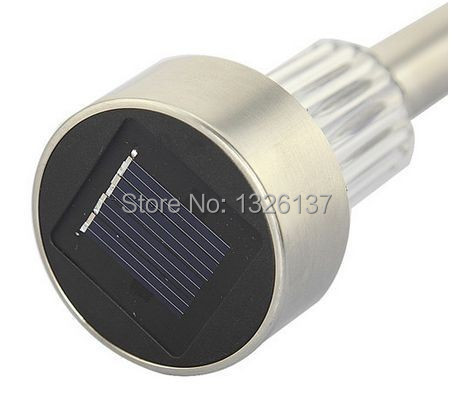 1New Waterproof Outdoor Solar Power lawn lamps LED Spot Light Garden Path Stainles Steel Plastic