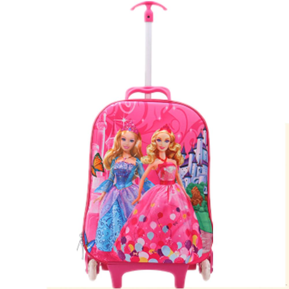 Дети 3D комикс гадкий я миньоны Hello Kitty на колёсиках ранцы дети путешествие багаж чемодан на колеса