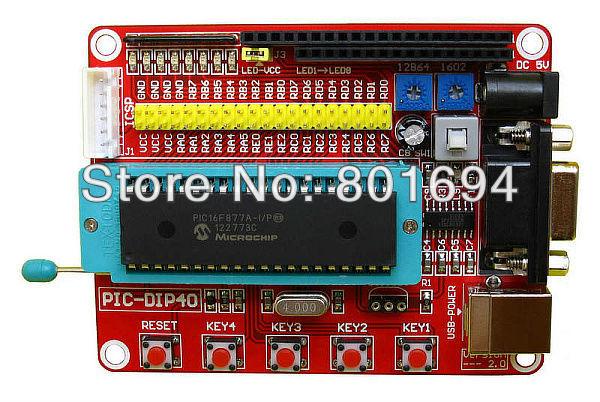 10 Pcs/Lot Mini System PIC Development Board microcontroller experiment module(China (Mainland))
