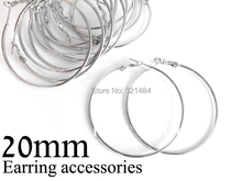 500pc/lot rhodium plated french circle hooks earrings