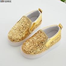 2017 Весенние Дети Повседневная Shoes With Light Детские Спортивные Shoes Девушки Кроссовки световой Shoes для Принцессы Кроссовки(China (Mainland))