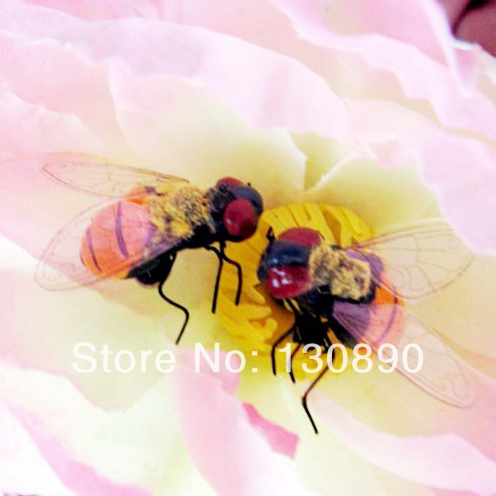 Free shipping 10pcs lot artificial honeybee mini cuite for Artificial bees for decoration