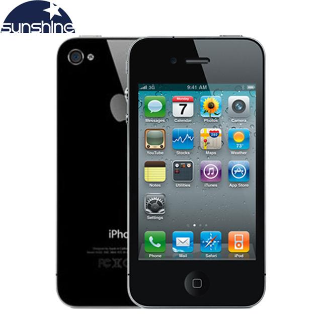 """IPhone4 Разблокирована Оригинальный Apple iPhone 4 Мобильный Телефон 3.5 """"IPS Используется Телефон GPS iOS Смартфон Multi-Language Сотовые Телефоны"""